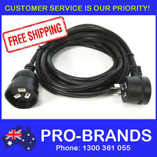 5-Metre Power Extension Lead 1.5mm Cord Cable Wire Piggy Back Black 5M Piggyback