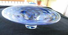 """WATERFORD EVOLUTION COBALT BLUE RUSH BOWL, 16""""W, 5""""H, EXCELLENT CONDITION"""