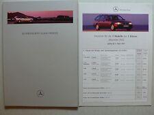 Prospetto MERCEDES CLASSE C T-modelli S 202, 6.1997, 46 PAGINE + LISTINO PREZZI 3.97