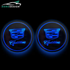 Switchable 7 Colors LED Car Cup Holder Bottom Pad Atmosphere Light For Cadillac