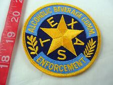 Texas -Alcoholic Beverage Enforcement Cloth Patch About 3-1/2