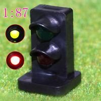 JTD871GR 5PCS HO scale LEDs Rectangle Dwarf Signals for Railway signal 2 Aspects