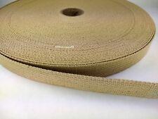 25 feet of 1 inch CAMEL DESERT SAND cotton belt webbing straps crafts fashion