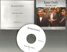 KAISER CHIEFS Never Miss A Beat TST PRESS PROMO Radio DJ CD Single  2008 MINT