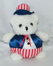 Russ Berrie & Co. Plush Yankee Doodle Teddy w/ American Flag Outfit 4th of July