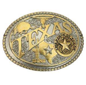 Montana Silversmiths Two-Tone Texas State Heritage Attitude Buckle-60811TXP2