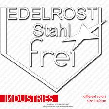 Edelrost Stahlfrei Aufkleber | 11x9 | Aufkleber Car Sticker | Kult Oldschool