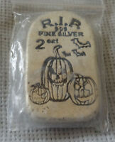 Glow In The Dark .999 Silver Halloween Hand Poured 2 oz Tombstone Bar #29