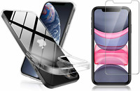 CLEAR Case & Tempered Glass SCREEN PROTECTOR For iPhone 12/Mini/Pro/Pro Max