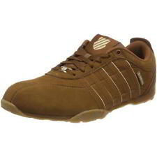 K-Swiss Arvee 1.5 Mens White Brown Leather Lace Up Trainers Shoes Size UK 7-12