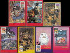 GB 2007 Harry Potter 1st class stamp SG 2750-2756 maxi cards x 12
