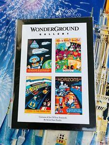 2021 Disney Horizons Small World Speedway Star Tours Dave Perillo Postcard Set