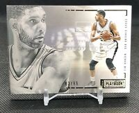 2015-16 Panini Preferred Playbook RARE Tim Duncan /99 Dual Game-Used SPURS Patch