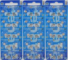 30 pc 379 Renata Watch Batteries SR521SW FREE SHIP 0% MERCURY