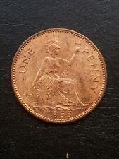 QUEEN ELIZABETH 11 1953 ONE PENNY COIN UNC (UNITED KINGDOM)