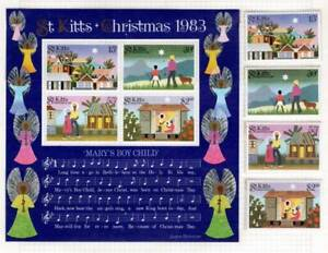 St. Kitts ~ Scott 127-130 & Mini Sheet ~ MNH