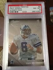 2014 Prestige Number Ones #8 Troy Aikman - NM-MT PSA 8