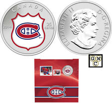 2014 'Montreal Canadiens - NHL Hockey' Colorized 25-Cent Coin & Stamp Set(13311)