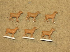 Vgc Lot of farm toy miniatures for display or play - 6 lambs