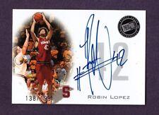 2008 Press Pass ROBIN LOPEZ Rookie Autograph /199 Auto RC