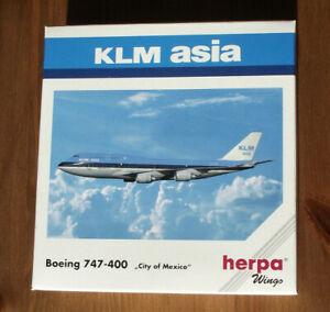 """HERPA 511216 1:500: Boeing 747-400 """" KLM ASIA """" OVP"""