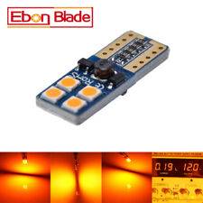 2 x Amber Canbus Error Free T10 3030 LED 8SMD Wedge Car Light Bulb W5W 194 168
