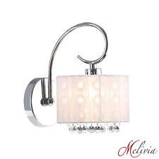 Applique murale tissu blanc cristal Luminaire lampe chrome blanc chandeliers