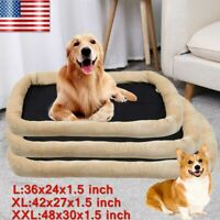 """36""""-48"""" Dog Bed Pet Lounger Deluxe Cushion Cat's Cage Soft Cozy Comfortable Mat"""