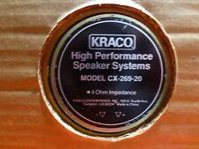 "VIntage KRACO 6""x9""  in original box. New 2 Way Speakers 6x9 80 Watts  CX-269-20"
