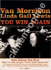Van Morrison Linda Gail Lewis You Win Again LP Advert