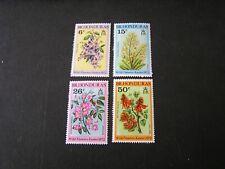 BRITISH HONDURAS, SCOTT # 292-295(4), COMPLETE SET 1972 FLOWERS ISSUE MVLH