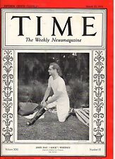 1933 Time March 27-Germany and Goebbels; Clark Gable; Helen Hayes; Mary Pickford