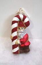 Slavic Treasures Ornament Hangin' On Glass Poland Elf Candy Cane Nib (S6)
