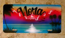 Mothers Day Gift Airbrush Custom License Plate Car Tag Personalized w/ Your Name