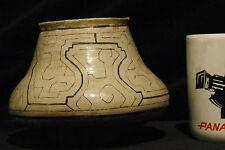 Antique Shipibo Pot Olla Kenti Vacu Delicate Geometric Pattern 4.5 inch 11 cm