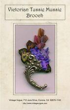 Victorian Tussie Mussie Brooch - Pattern by Janet Stauffacher - Wired Ribbon