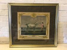 Antique 18th Century Richard Houston Engraving Horse Print Portraiture Lamprey