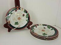 "Tienshan Fine China ""MAGNOLIA"" Salad Plates Set of 4 Excellent Condition"