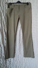 Miu Miu khaki green cotton straight leg trousers size 46