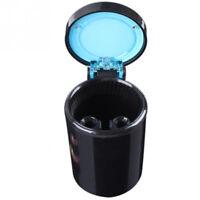 NEW Portable Car LED Light Ashtray Auto Travel Cigarette Cup.. Holder Ash K6W4