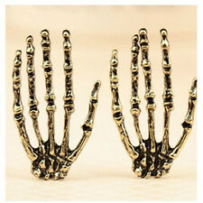 FD2586 Halloween Gothic Punk Skull Ghost Hands Bronze Earring Stud Jewelry Gift☆