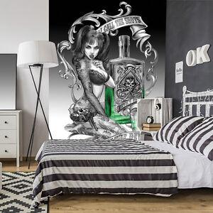 FOTO Fototapeten Tapete  Alchemy Frau Tod Grafitti Gothic 3FX10838P4A