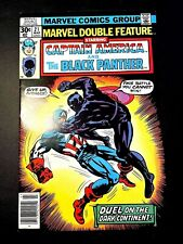 MARVEL DOUBLE FEATURE 21 (3/77 8.5 non-CGC) BLACK PANTHER! CAP/IRON MAN!