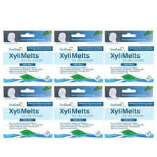 Pacote com 6 oracoat xylimelts Suave-Perfeito Para Boca Seca 40 Discos Cada