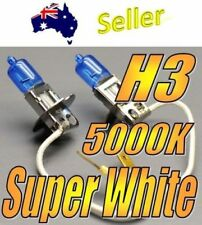 2x Super White H3 Globes fits many cars