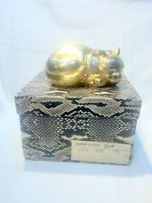 JUDITH LEIBER GOLD CAT MINAUDIERE - NEW WITH TAG - PART OF SMALL COLLECTION