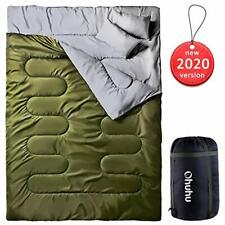 Double Sleeping Bag with 2 Pillows, Waterproof Lightweight 2 Person Adults