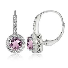 Leverback Cubic Zirconia Drop/Dangle Fine Earrings