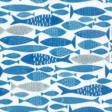 Servietten - Fische - Shoal of fish Kommunion Konfirmation 20 Stück