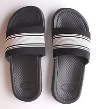 NEW C9 by CHAMPION YOUTH CUSHION LITE BLACK/WHITE SLIP ON SANDALS SIZE L 4/5